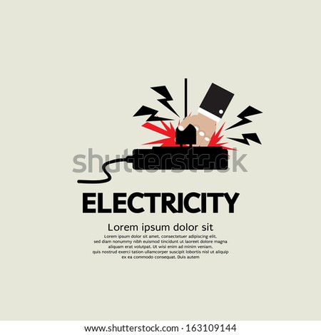 Electric Shock Vector Illustration EPS10 - stock vector