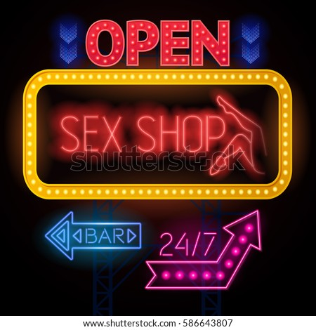 Signs sexual restaurant
