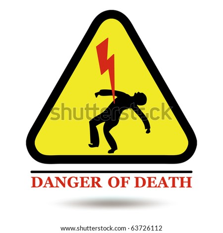 Electric sign vector - stock vector