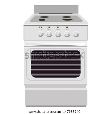 Electric stove. Isolated object. Appliances. vector illustration - stock vector