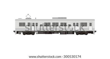 electric train car simple illustration - stock vector