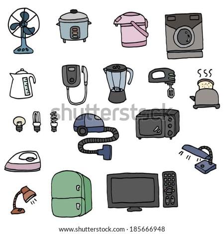 electrical appliances - stock vector