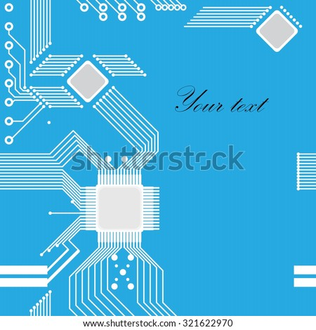 Electrical circuit -  greeting card. Vector illustration - stock vector