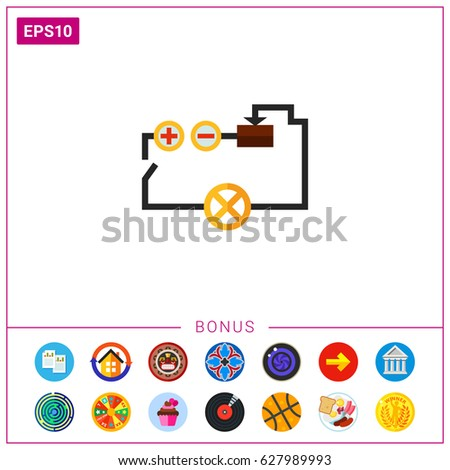 electric circuit diagram stock images royalty images electrical circuit icon