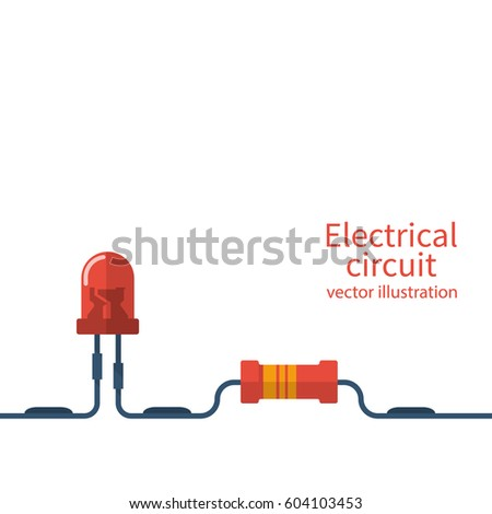 Electrical Circuit Template Electronics Repair Service Center Workshop Banner Red LED And