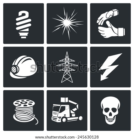 Electrical Company Icons set  - stock vector