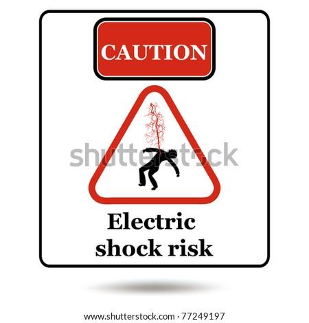 Electrical Danger Sign. Vector - stock vector