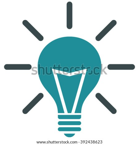 Electrical Light vector icon. Image style is bicolor flat electric light pictogram drawn with soft blue colors on a white background.