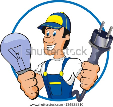 electrician - stock vector