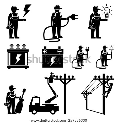 Electrician icons.vector