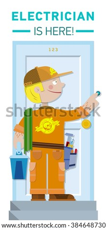 Electrician is here - stock vector