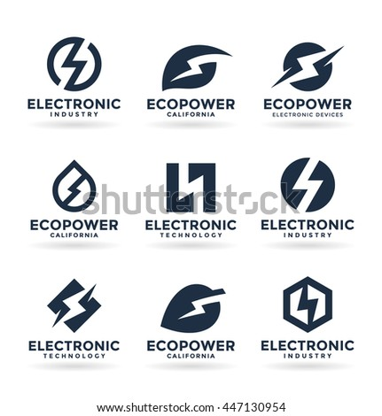 Electricity and electric energy  - stock vector