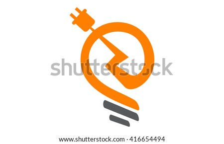 Electricity Logo - stock vector