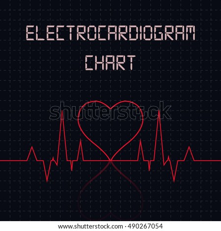 Electrocardiogram (ECG) chart table - healthcare infographic