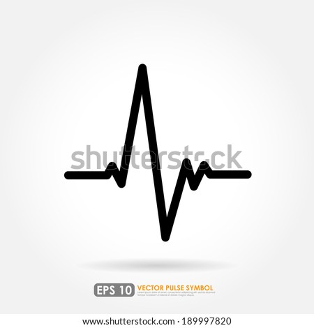Electrocardiogram, ecg or ekg - medical icon - stock vector