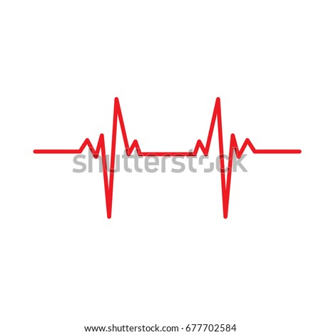 electrocardiogram ecg ekg medical vector icon stock vector royalty rh shutterstock com ekg vector ekg vector