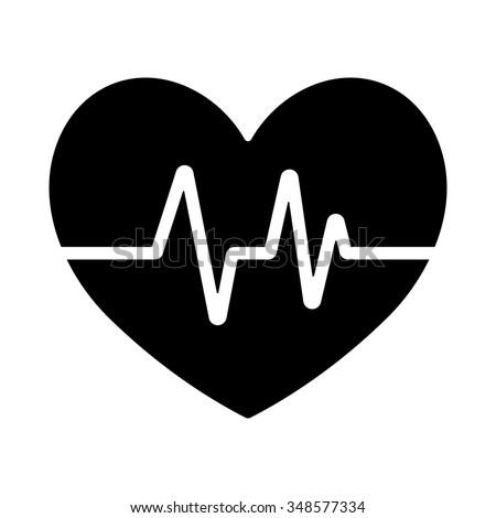 electrocardiogram icon - stock vector