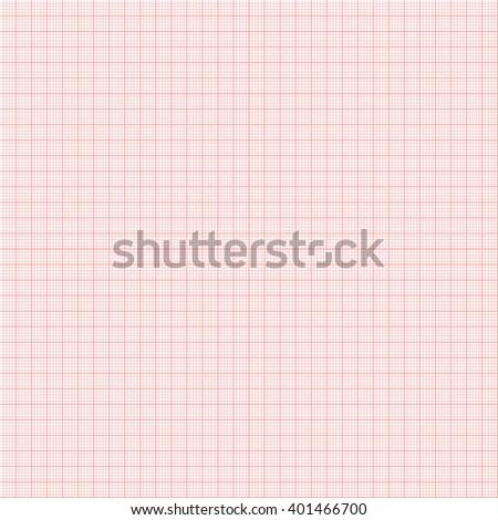 Electrocardiogram paper texture, millimeter paper texture. Vector illustration. - stock vector