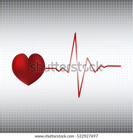 Electrocardiogram vector illustration