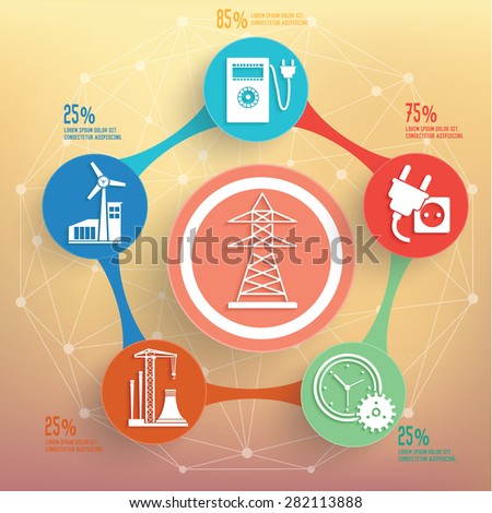 Electronic and industry design on blur background,info graphic design,clean vector - stock vector