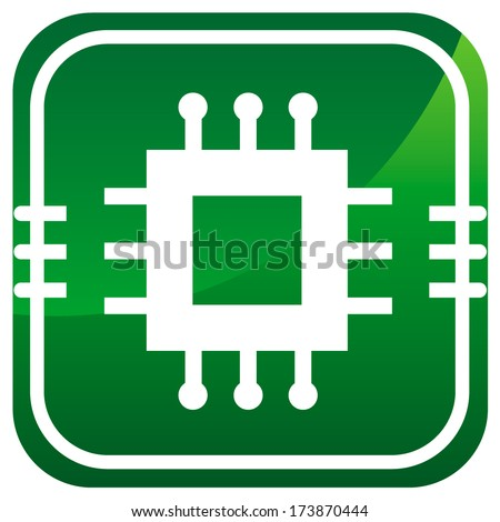 Electronic chip icon. - stock vector