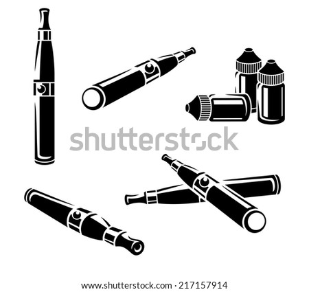 Electronic cigarettes set. Vector  - stock vector