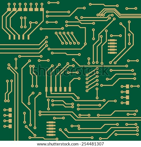 Electronic circuit background. Vector illustration.