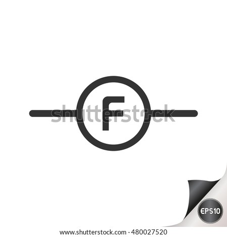 Electronic Circuit Symbols Frequency Meter Stock Vector 480027520 ...
