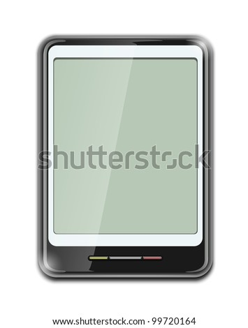 electronic clipboard icon vector illustration isolated on white background EPS10. Transparent objects and opacity masks used for shadows and lights drawing