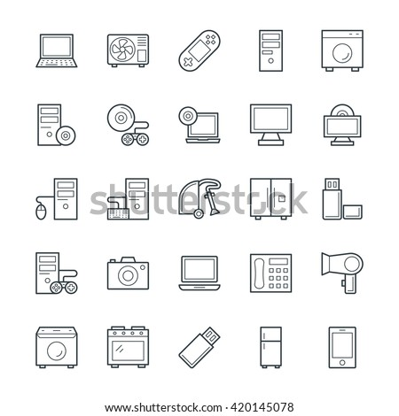 Electronic Cool Vector Icons 2