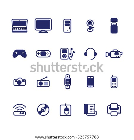 Electronic devices icon set. Vector illustration. Vector icons set.
