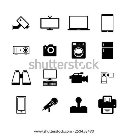 Electronic icon - stock vector