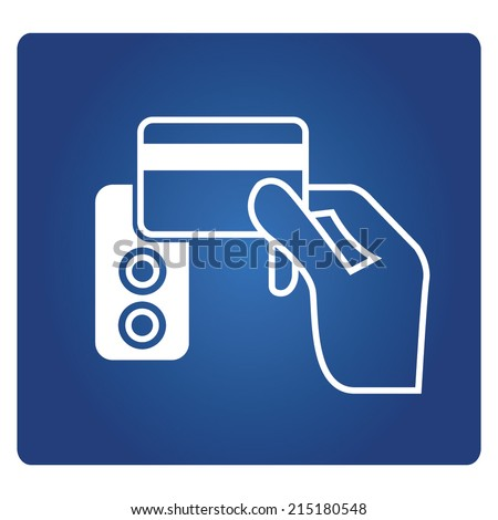 electronic key system, smart key card symbol - stock vector