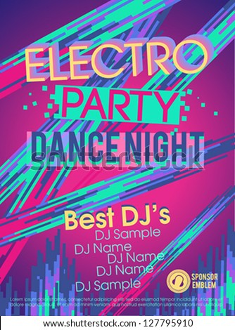 Electronic party poster