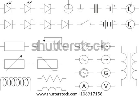 Electronic symbols - stock vector