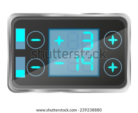 electronic temperature control of the refrigerator vector illustration isolated on white background - stock vector