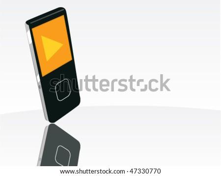 electronics background - stock vector