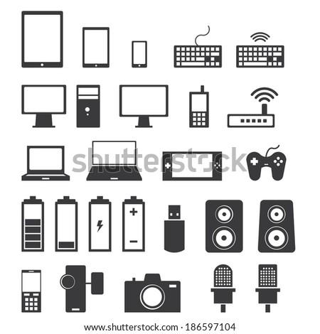 Electronics icons - stock vector