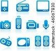 Electronics icons set. Vector illustration - stock vector