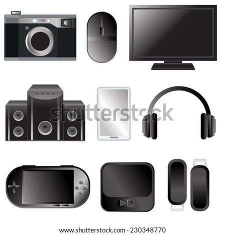 electronics items vector for teen