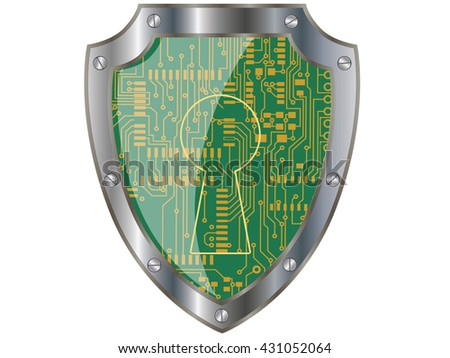 Electronics shield.Vector