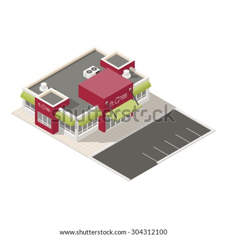 Electronics store isometric icons set vector graphic illustration - stock vector