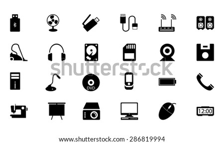Electronics Vector Icons 2  - stock vector