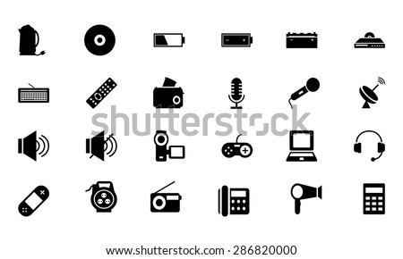 Electronics Vector Icons 3  - stock vector