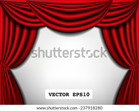 elegance curtain frame, vintage vector illustration.