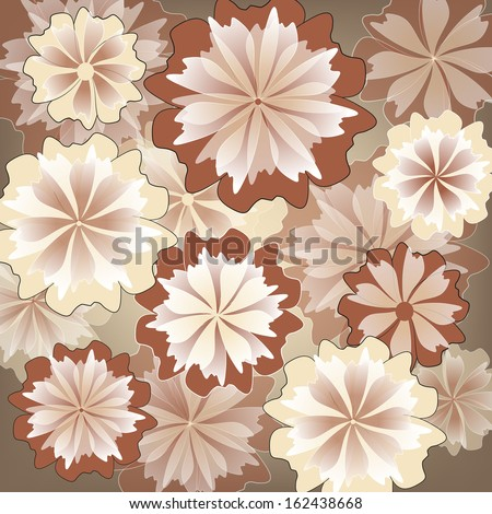 Elegance pattern with flowers. Abstract floral background.
