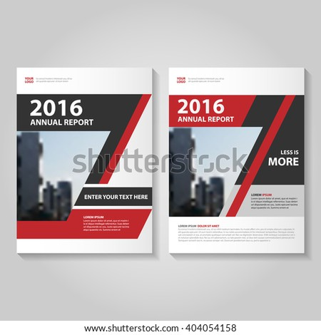 black brochure template - red black template advertising brochure business stock