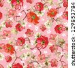 Elegance Stylish Seamless pattern with roses, Vector Stylish texture - stock photo