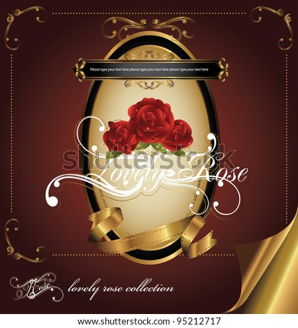 elegance vintage collection - stock vector