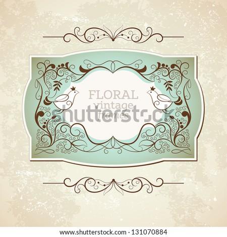 Elegance vintage frame - stock vector